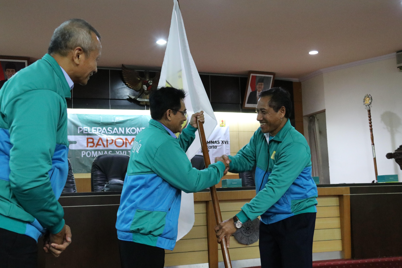 Ketua KONI DIY Lepas Kontingen BAPOMI-DIY untuk Berlaga di POMNAS XVI Jakarta
